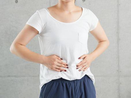 Japanese woman worried about sagging belly
