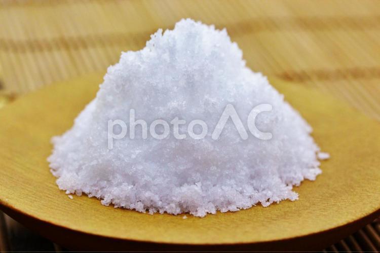 塩(あらじお、自然塩)の写真