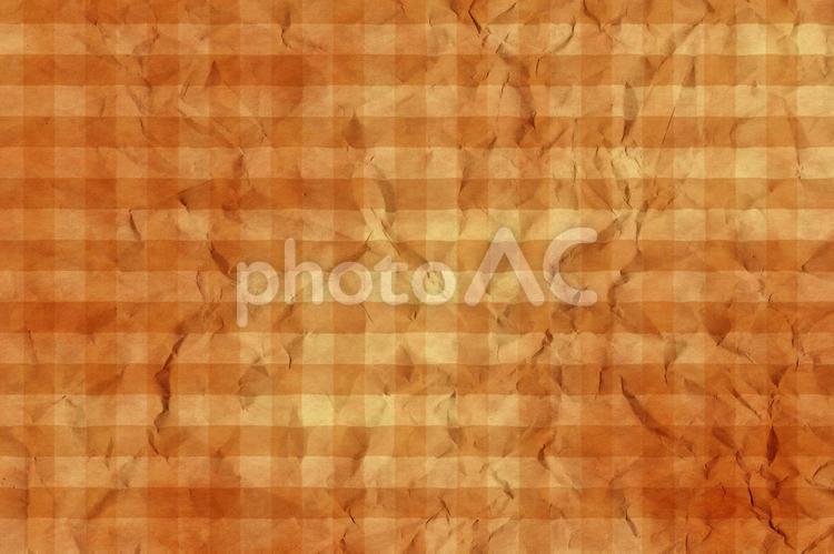 しわのある和紙 彩雲 ギンガムチェック柄 ちぢれ 凸凹 テクスチャ 42の写真