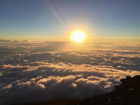 Sunrise seen from the top of Mt. Fuji