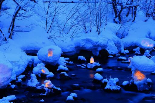 Otaru snow light path (Asuri River venue) 1