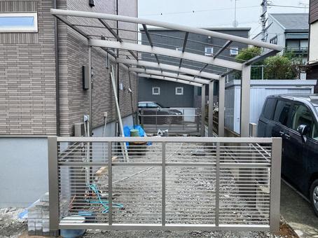 Exterior work and carport installation