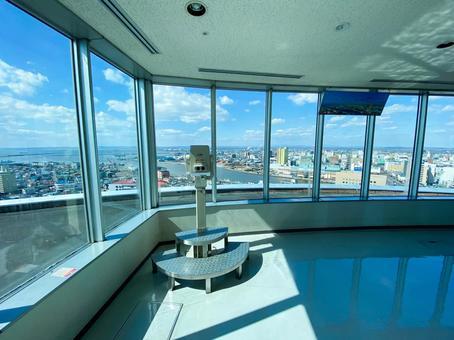 從終身學習中心的observation望台俯瞰Ku路市