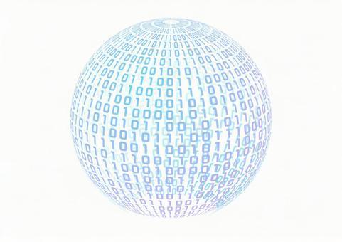 0과 1의 디지털 네트워크 이미지