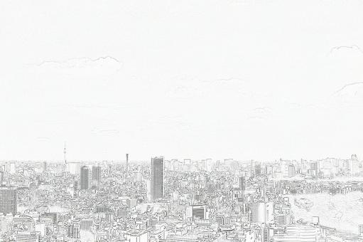 City view sketch 2