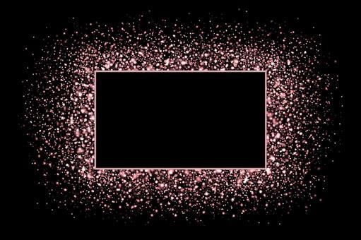 Rose gold, sparkling frame [PSD]