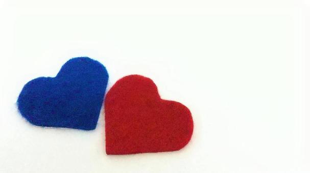 Heart (felt) blue red