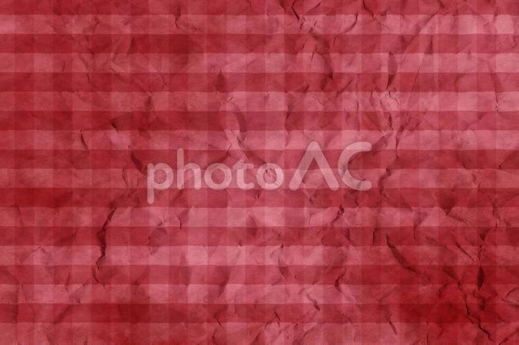 しわのある和紙 彩雲 ギンガムチェック柄 ちぢれ 凸凹 テクスチャ 50の写真