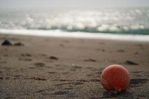 봄의 해변의 경치 오렌지 낚시찌 2