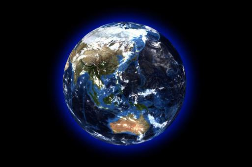 Earth and black space background