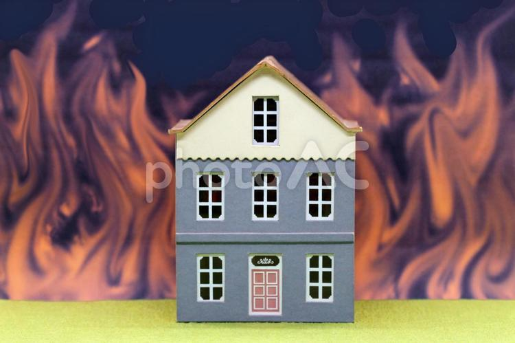 火事 住宅火災の写真