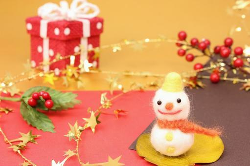 雪人和礼品
