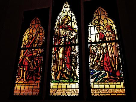Stained glass of church