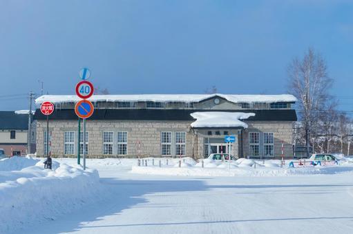 비 에이 역의 역사 겨울