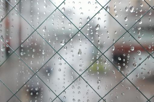 Window glass water drops rain