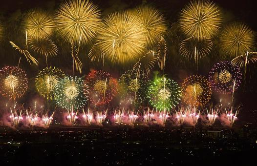 Nagaoka fireworks display 180725