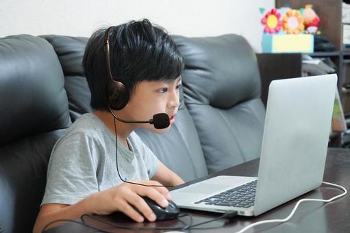 孩子們在線學習