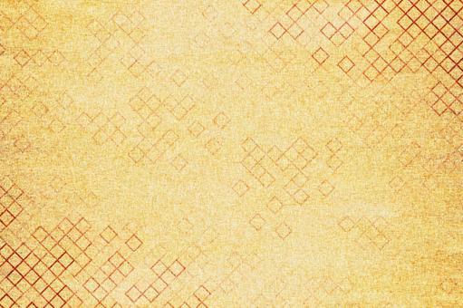 具有金色方格圖案的日本紙圖像紋理