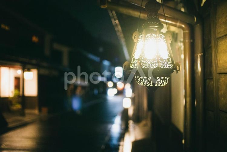 夜の倉敷美観地区1の写真