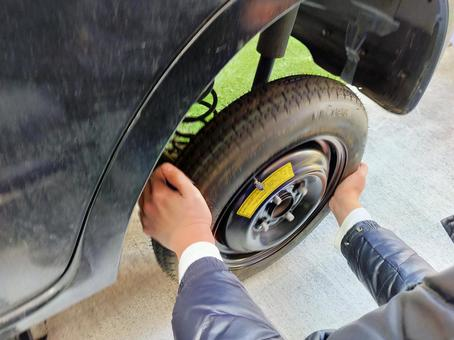 Replacement work for spare tires