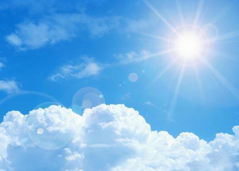 Strong sun rays image UV