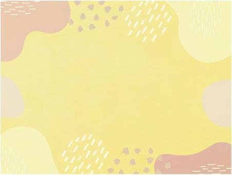 現代日本紙的背景材料_日落色的日本花紋紋理