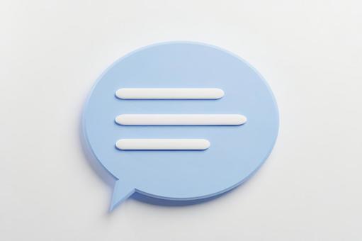 Cute speech bubble blue background