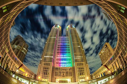 Tokyo Metropolitan Government Office (Olympic · Paralympic Color Light Up) 10