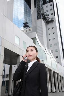 전화를 비즈니스 우먼 3