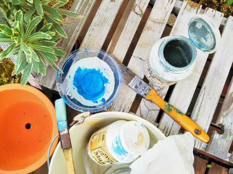 정원 페인트 용품 DIY 이미지