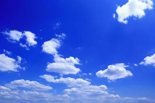 Blue sky white cloud sky pattern