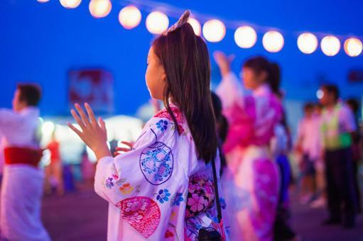 Summer festival Bon dancing