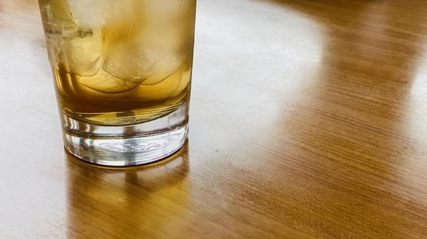 Drinks placed on the table