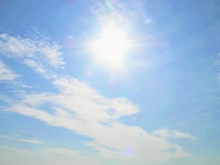 Blue sky and sun