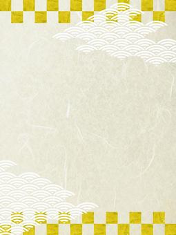 New Year material - gold foil and paper 縦