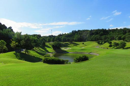 A blue sky golf course 1