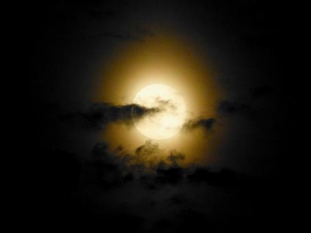 Cloud in the moon