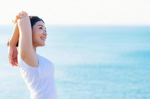 Women's health image sea background