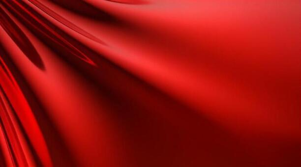 3D illustration of red drape background