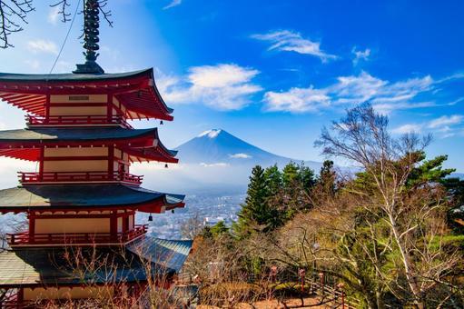 Arakurayama Sengen Park Chureito Pagoda and Mt. Fuji