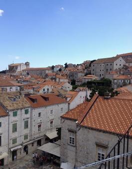 두브 로브 니크의 거리, 크로아티아.