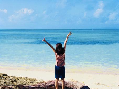 Take a deep breath on the beach