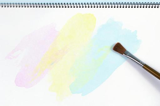 Sketchpad with paint