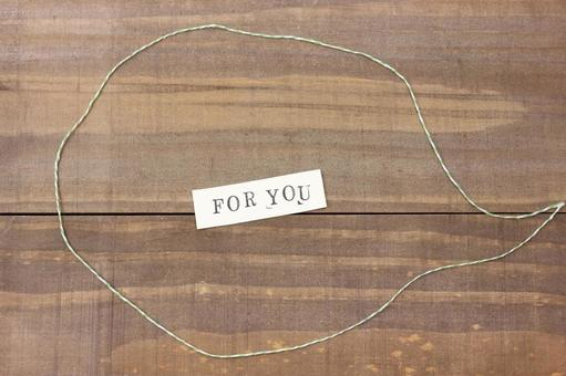 Message card FOR YOU