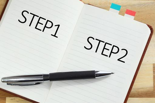 Step-up STEP Image material Notebook and pen