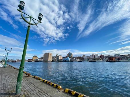 Kushiro Port on a clear day
