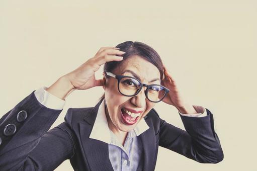 Business woman stress