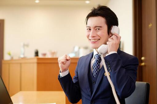 Hotel man receiving a call 4