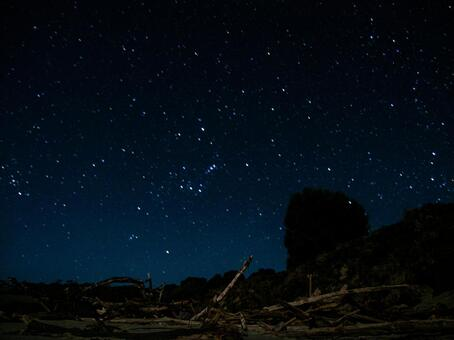 Starry sky taken with long exposure