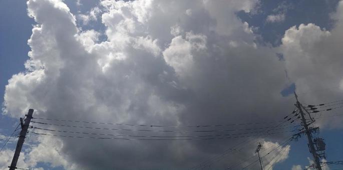 電線和天空